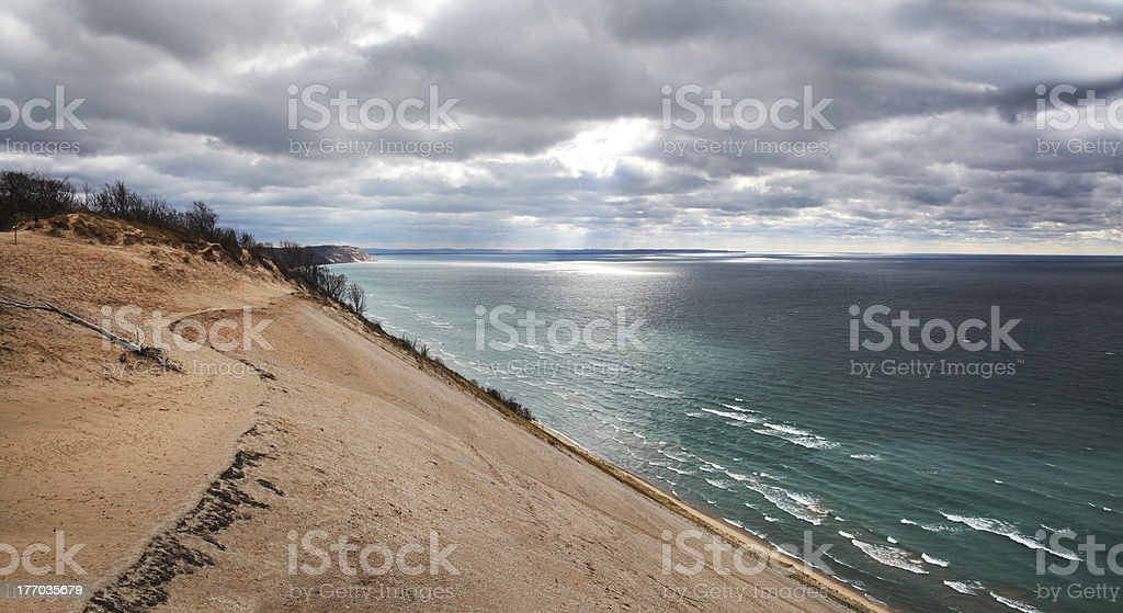 Lake Michigan Dune royalty-free stock photo