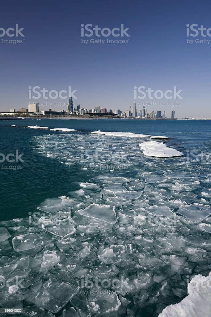 Michigan-See im Winter Lizenzfreies stock-foto