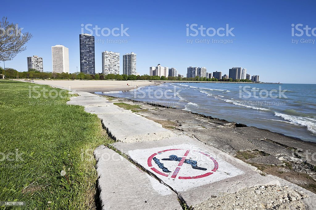 Lake Michigan Lakeshore, Chicago North Side royalty-free stock photo