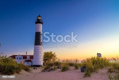 177362898 istock photo Lake Michigan Lighthouse 466243882