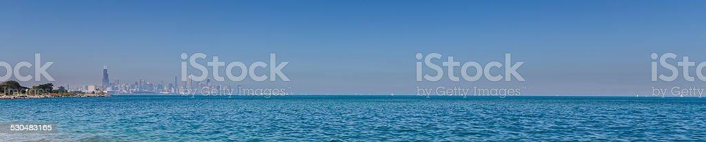 Lake Michigan Panorama stock photo