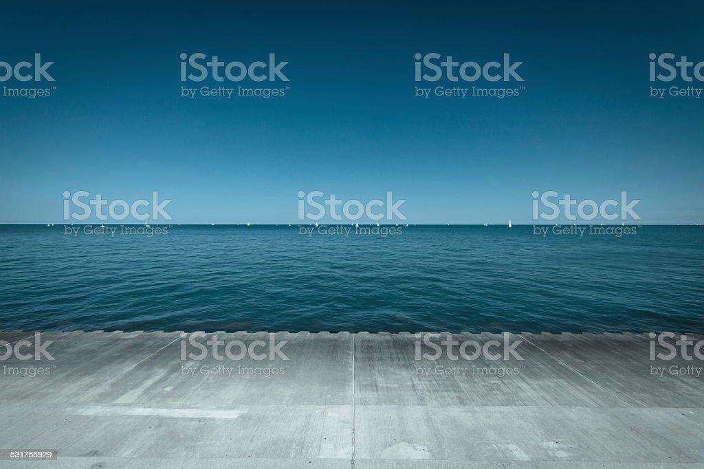 Lake Michigan stock photo