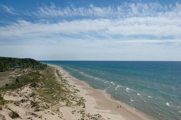 Lake Michigan Shore at Little Sable Point stock photo