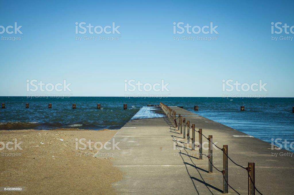 Lake Michigan Waterfront Chicago stock photo