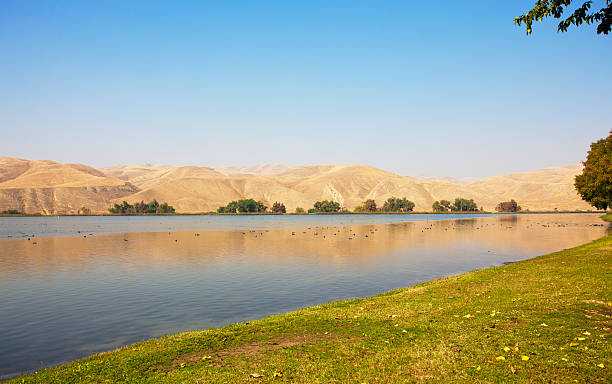 Lake Ming in Bakersfield on a warm sunny day stock photo