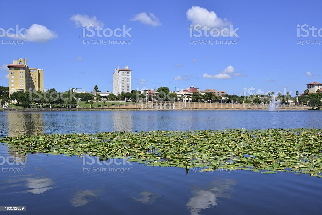 Lake Mirror, Lakeland, Florida stock photo