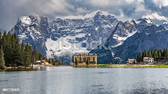 Lake Misurina In The Dolomites South Tirol Stock Photo & More Pictures of Alto Adige - Italy