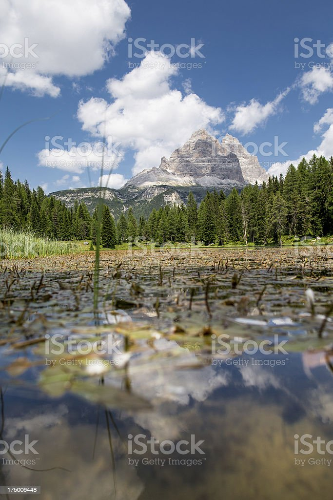 Lake Misurina royalty-free stock photo