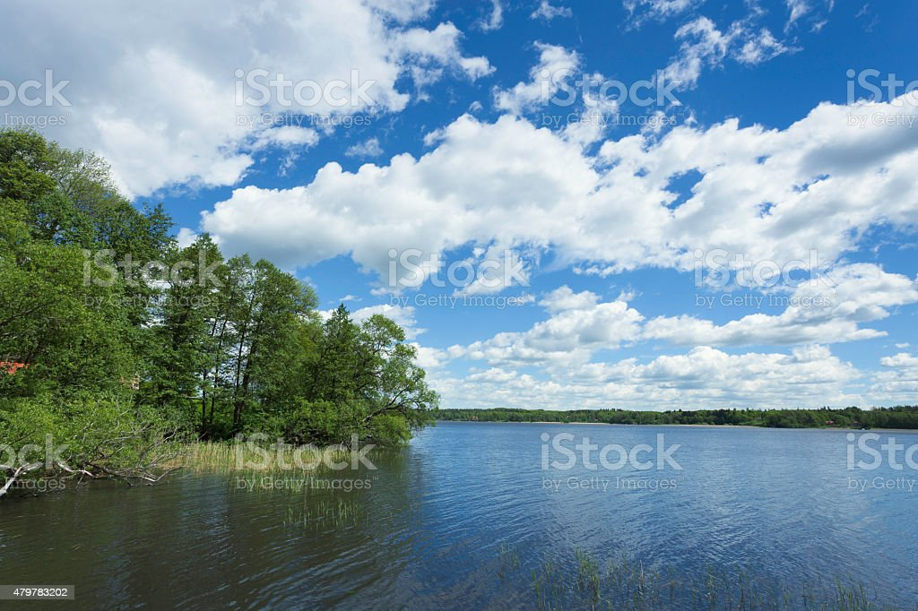 Lake Mälaren stock photo