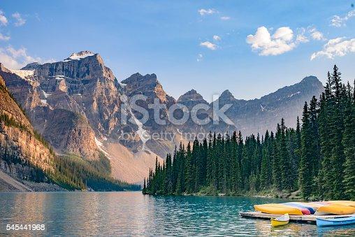 Lake  Moraine, Valley of the Ten Peaks, near Lake Louise, Banff National Park, Alberta, Canadian Rockies