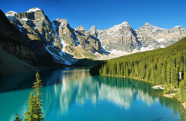 Lake Moraine, Banff national park Lake Moraine, Banff national park moraine lake stock pictures, royalty-free photos & images