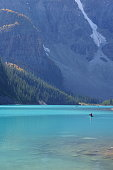 Lake Moraine Emerald Waters and Canadian Rockies, Banff National Park