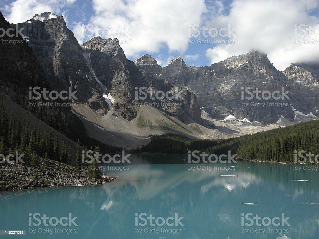 Lake Moraine royalty-free stock photo