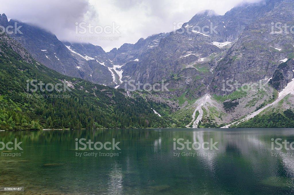 Lago Morskie Oko - foto de acervo