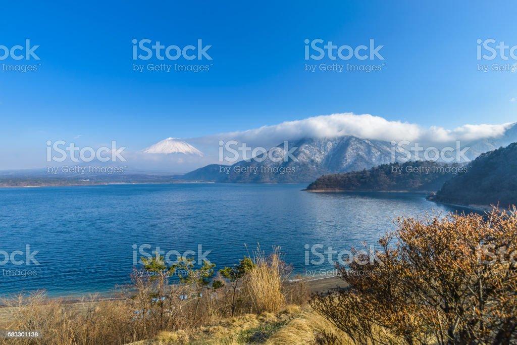 Lac Motosu et Mt. Fuji photo libre de droits