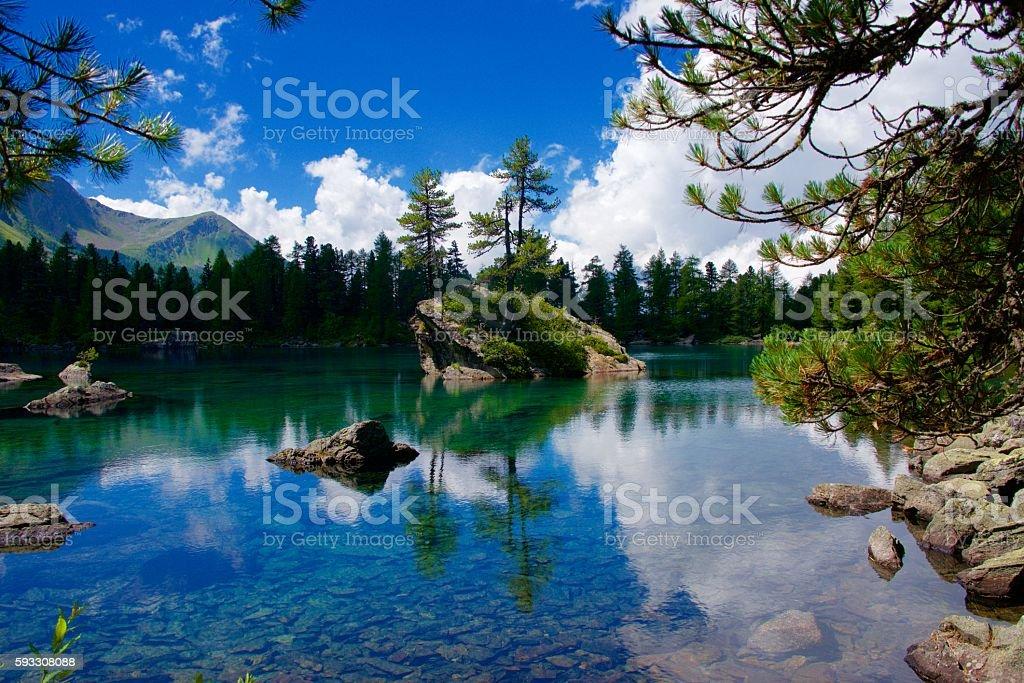 Lake - mountains - paradise stock photo