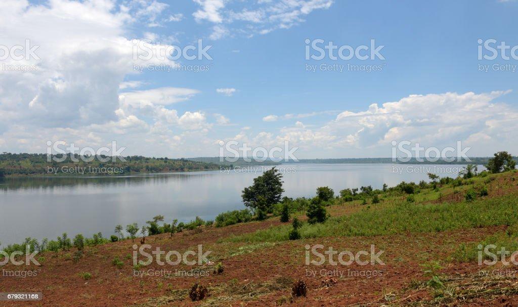 Lake Mugesera close to Sake - Rwanda royalty-free stock photo