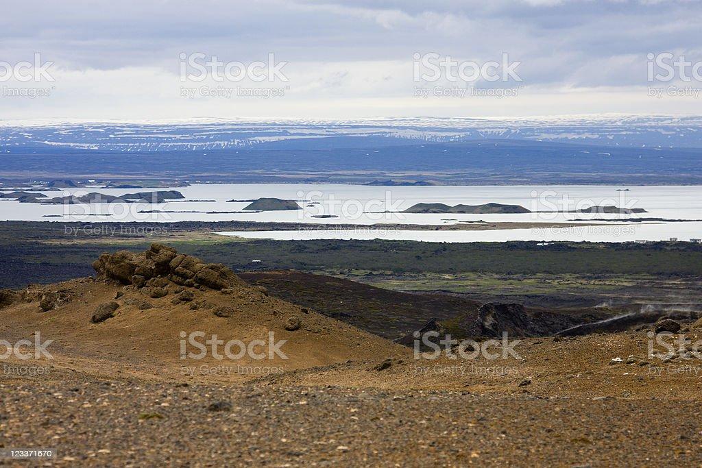Lake Myvatn, Iceland royalty-free stock photo