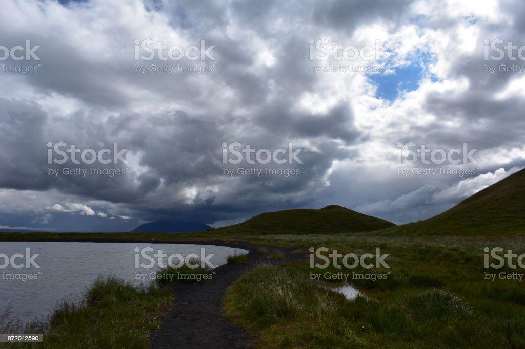 Lake Myvatn Pseudocraters stock photo