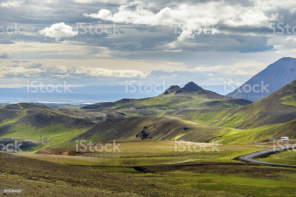Lake Myvatn region Iceland stock photo