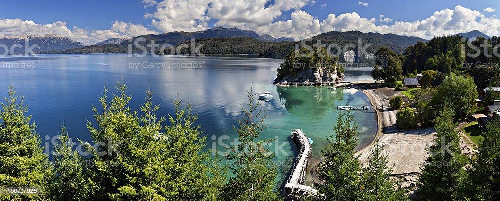 Lake Nahuel Huapi, Villa de la Angostura, Argentina stock photo
