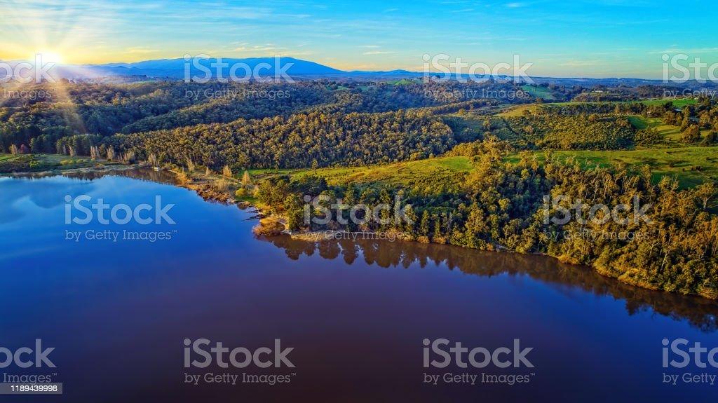 Lake Narracan Aerial - Royalty-free Aerial View Stock Photo