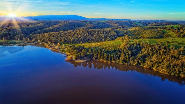 Lake Narracan Aerial stock photo