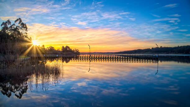 Lake Narracan Sunset stock photo