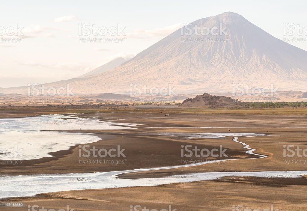 Lake Natron stock photo