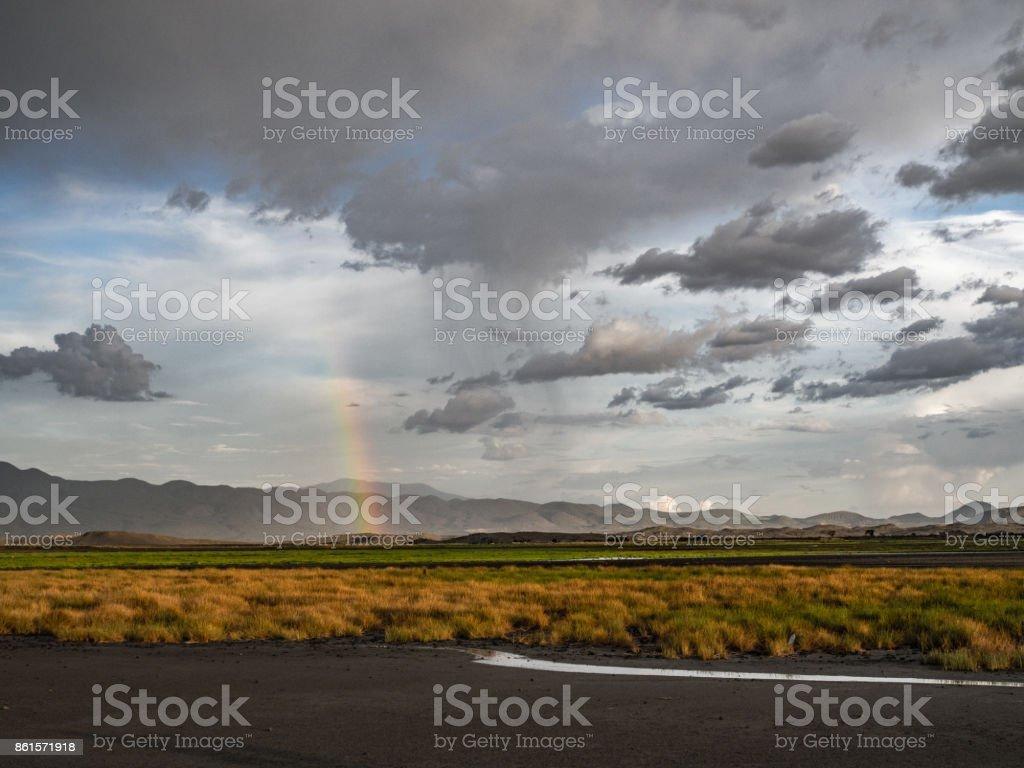 Lake Natron Rainbow stock photo