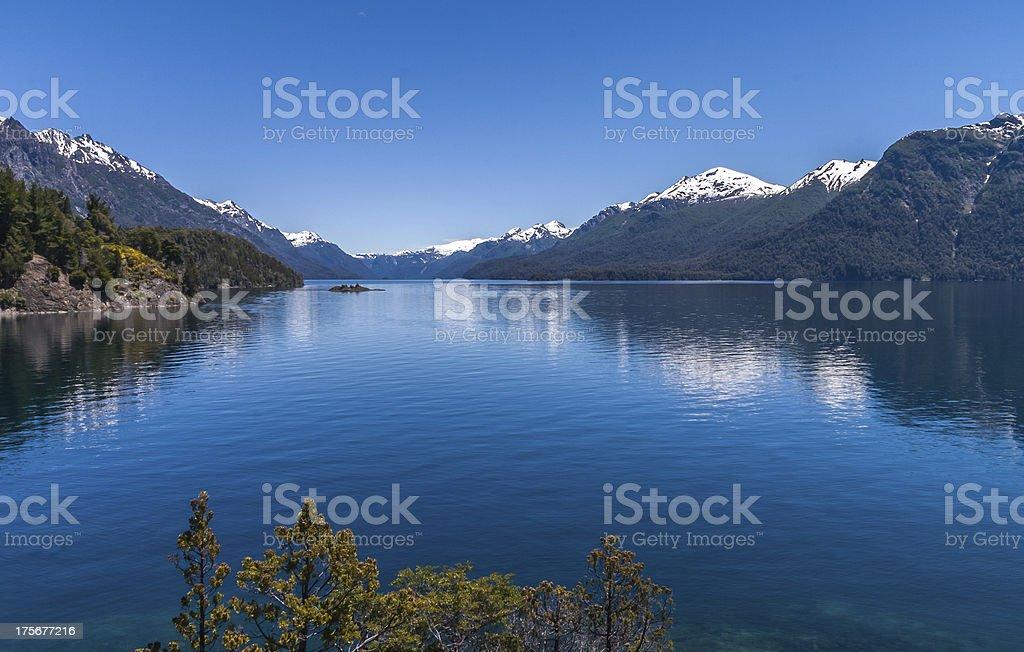 Lake near Bariloche in Argentina stock photo