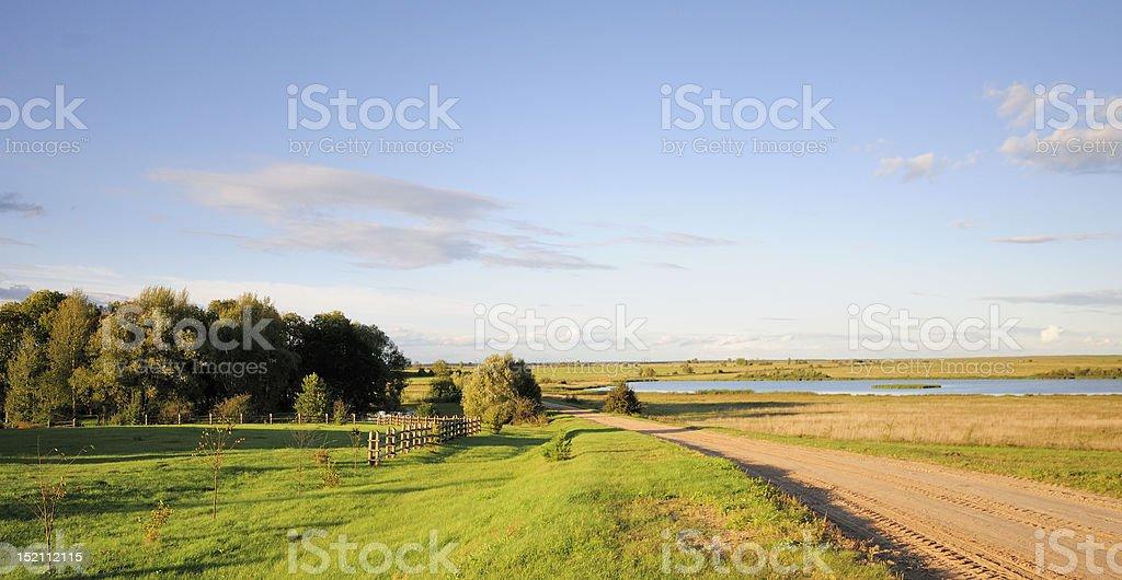 Lake near Kosava, Belarus stock photo