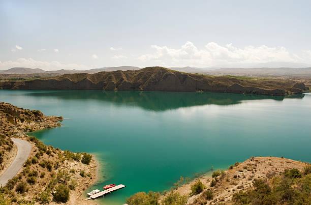 Lake Negratin, Sierra De Baza, Spain stock photo