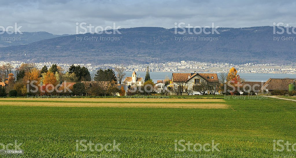 Lake Neuchatel stock photo