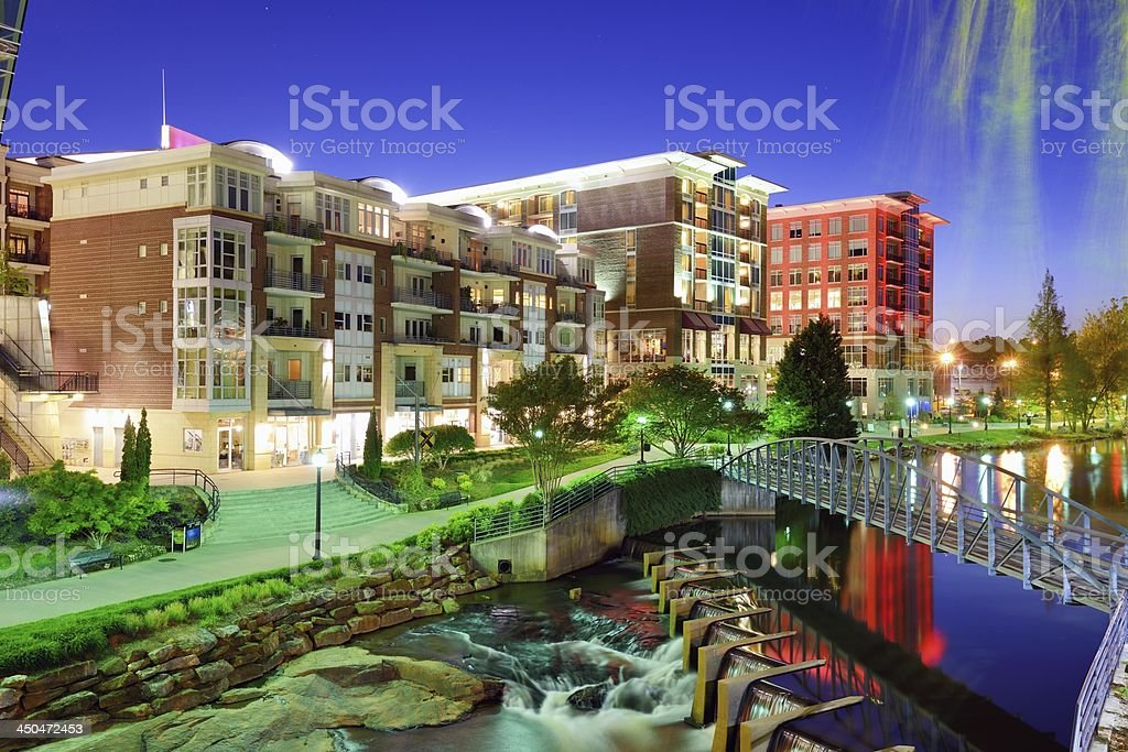 Lake next to buildings downtown greenville south carolina for Architects in greenville sc
