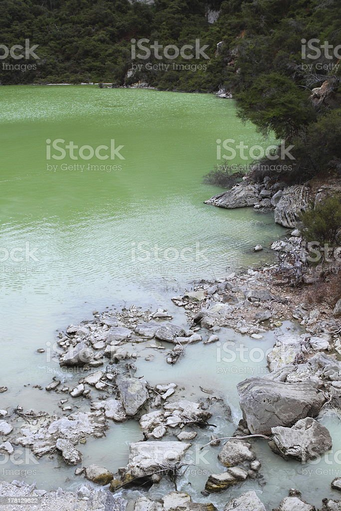 Lake Ngakoro royalty-free stock photo