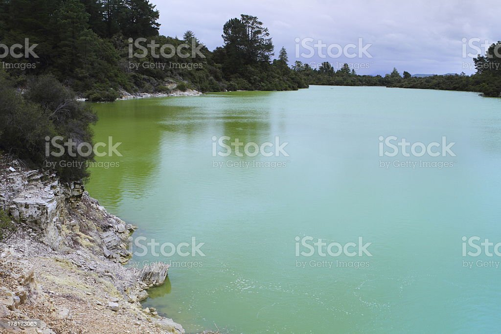 Lake Ngakoro royalty-free stock photo