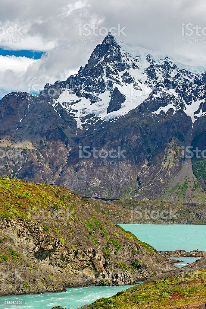 Lake Nordenskjold, National park Torres del Paine, Chile stock photo