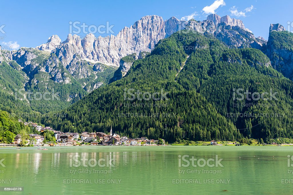 Lake of Alleghe stock photo