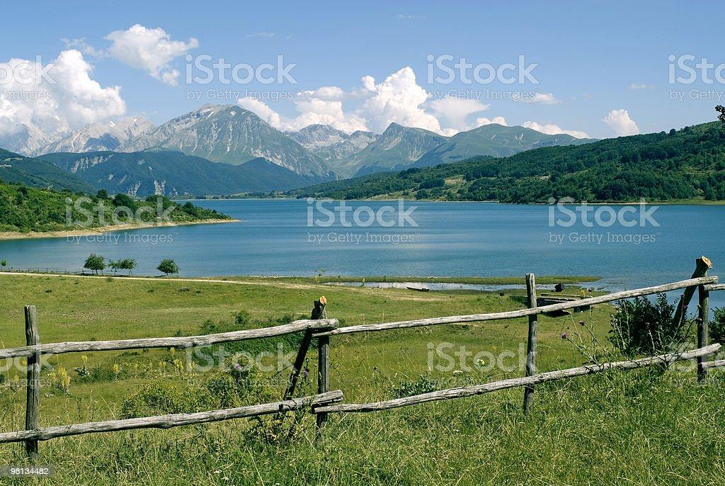Lake of Campotosto in Abruzzi royalty-free stock photo
