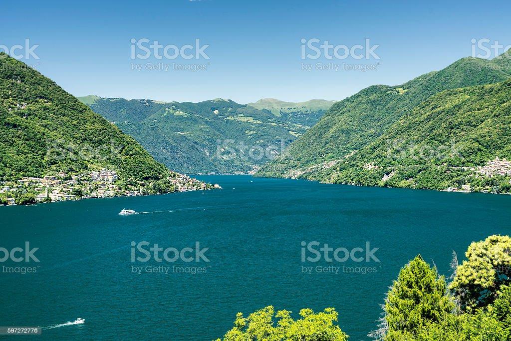 Lake of Como (Italy) Lizenzfreies stock-foto