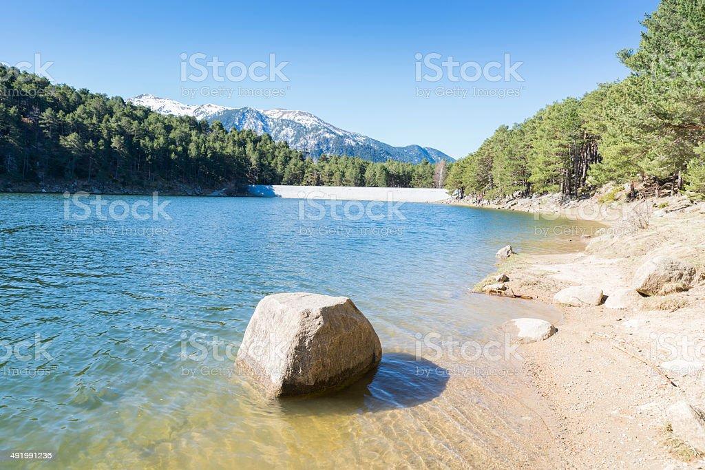 Lago de Engolasters - foto de acervo