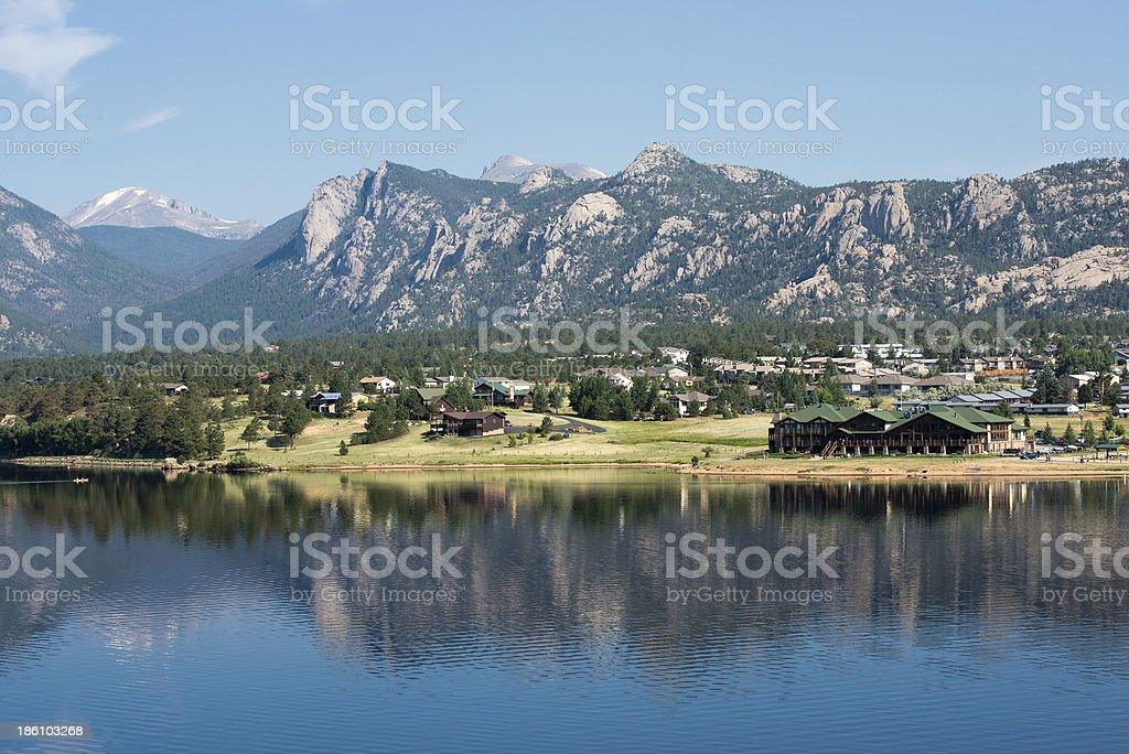 Lake of Estes Park, Colorado royalty-free stock photo