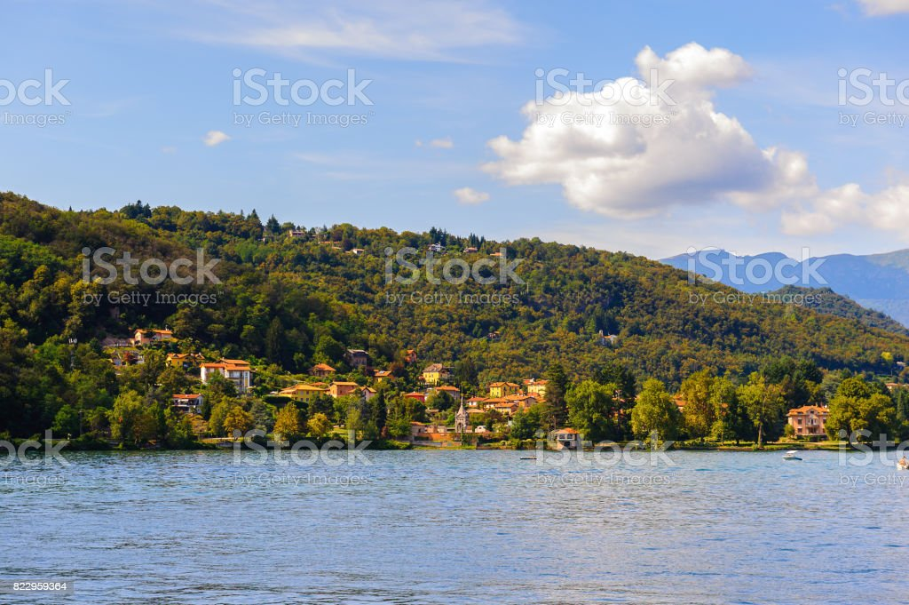 Lake of Lugano, Switzerland stock photo
