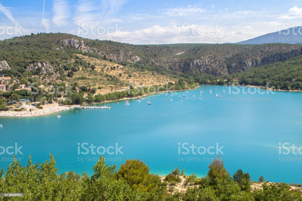 Lake of Sainte-Croix, France stock photo
