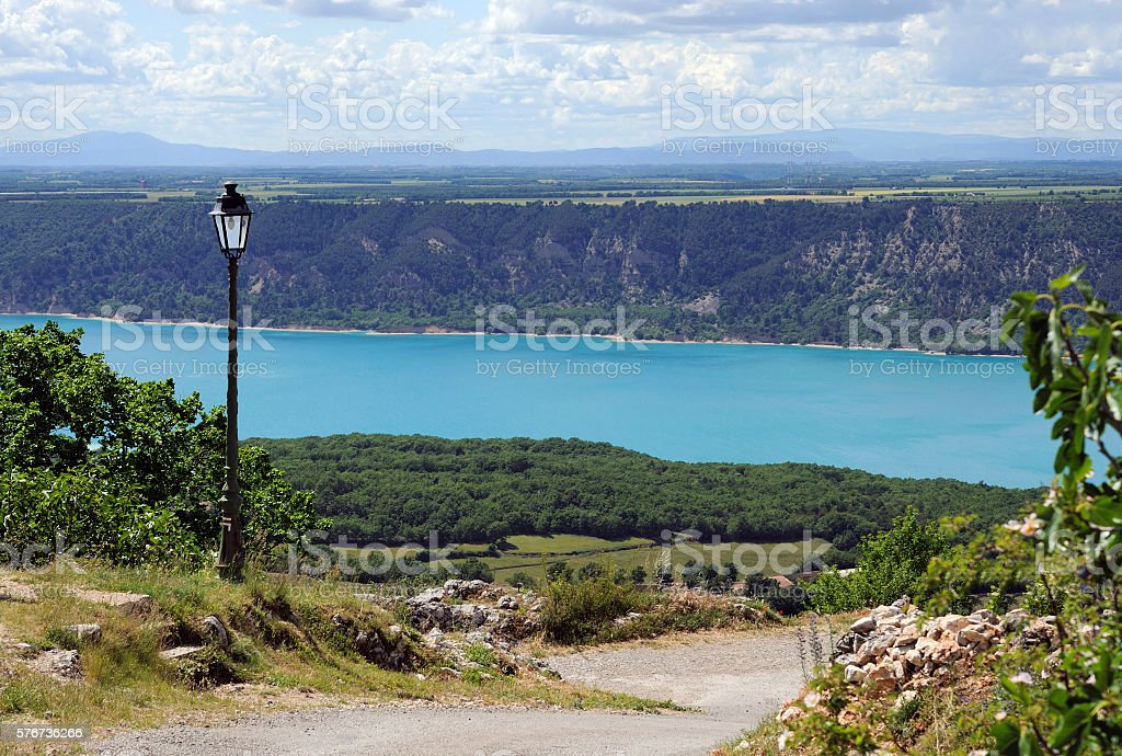 Lake of Sainte-Croix (France) stock photo
