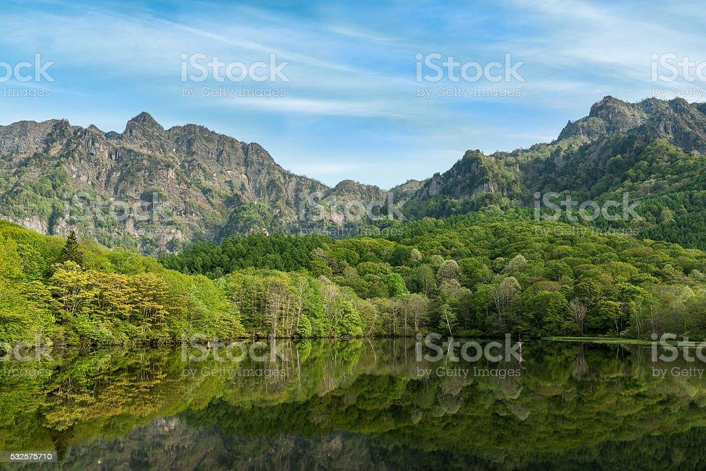 Lake of spring stock photo