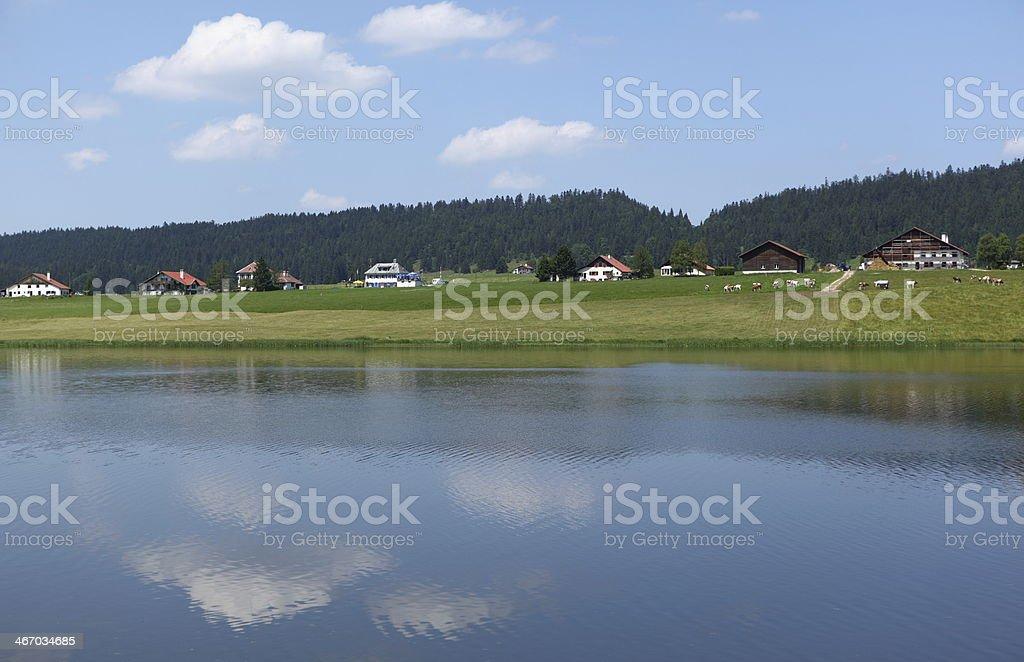 Lake of Taillères, Switzerland royalty-free stock photo
