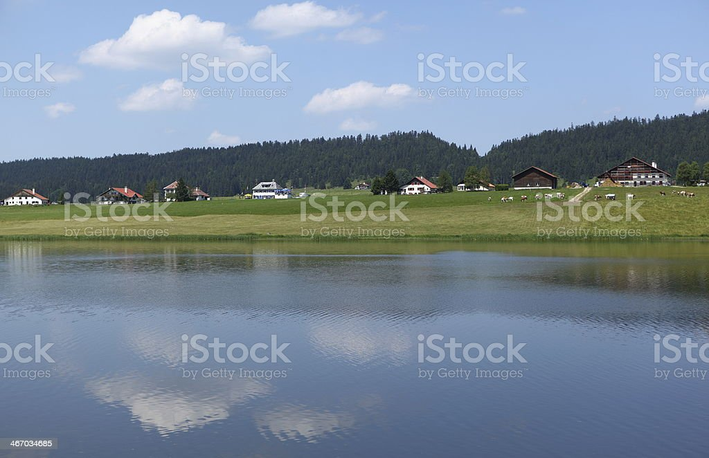 Lake of Taillères, Switzerland stock photo