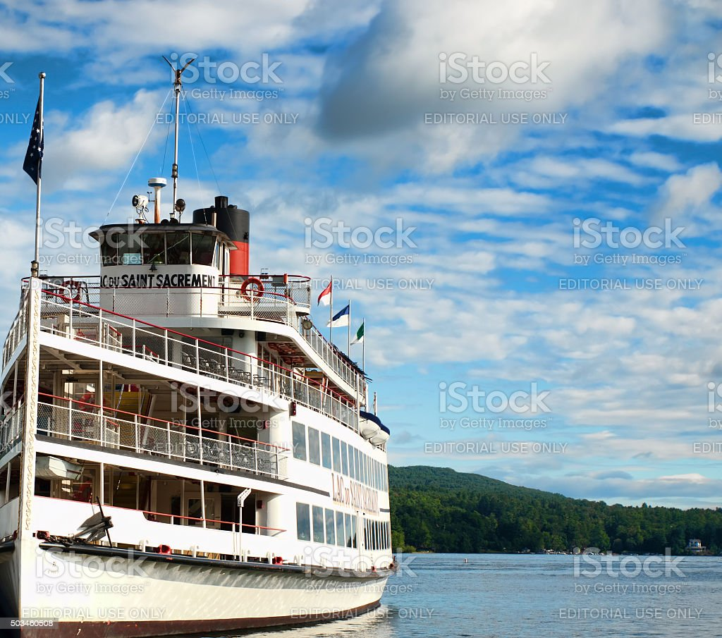 Lac du Saint Sacrement stock photo